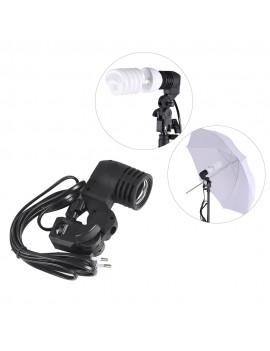 E27 Bulb Holder Socket Flash Swivel Bracket Photo Light Lamp Mount