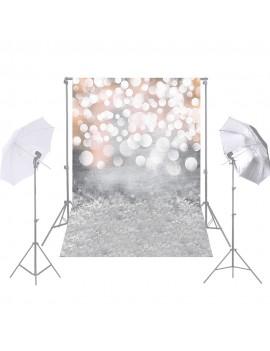 Andoer 1.5 * 2.1m/5 * 7ft Photography Background Glitter Light Bokeh Spot Backdrop Digital Printed Photo Studio Props