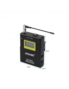 ACEMIC DV-800T UHF Dual-Channel Wireless Camera Microphone System