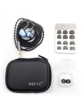 BQEYZ Spring 1 Earphone Piezoelectric Balanced Armature Hybrid Drivers Detachable 2Pin 0.78mm HiFi In-Ear Headphones Running Sports Metal Earbuds