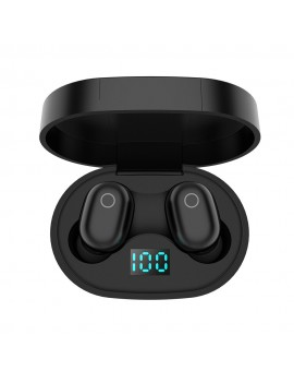 F2 TWS Stereo Wireless Headphones Mini Smart Bluetooth 5.0 In-Ear Headset with Mic Pick Up Automatic Pairing Earbuds LED Power Display