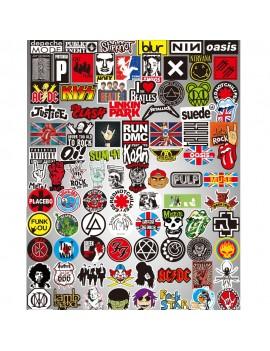 100 Pcs ROCK Band Stickers Mixture Stickers