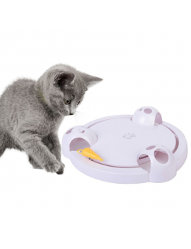 Automatic Rotating Cat Play Teaser Plate Mice Catch Toy Electric Playing Exercise Toys