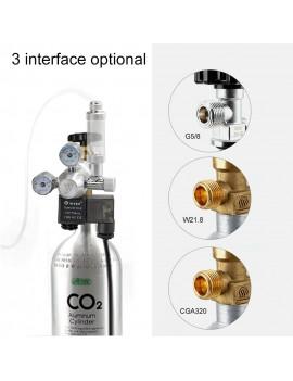 12V Output Voltage Aquarium CO2 Regulator CO2 Pressure Regulator(W21.8 Interface)