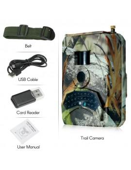 1080P Angle Trail Camera 120 Degree Infrared LED Hunting Camera IP56 Waterproof DC 15V Power Supply