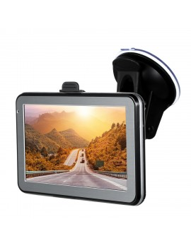 5 inch Car Portable GPS Navigation 128M 8GB FM Video Player Car Navigator with Back Support +Free Map HD Touchscreen