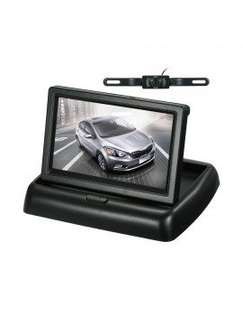 4.3 Inch TFT Color Display Foldable Car LCD Monitor Dashboard Screen Parking   Monitor