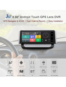 6.86inch 3G Android Car DVR 1080P GPS Navigation