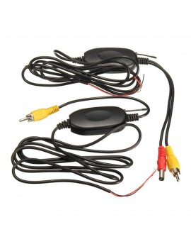 2.4G Wireless Color Video Transmitter & Receiver 1.5M for Car Rear Backup Front View Camera Vehicle Monitors