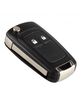 2 Button Folding Flip Key Shell Case Remote Key Cover Replacement with Uncut Blade for Vauxhall Opel Astra Insignia