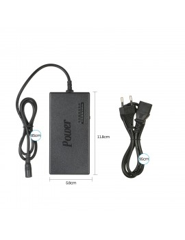 96W Universal Laptop Power Charger Adapter 8Pcs 12V to 24V Adjustable Portable Charger EU Plug
