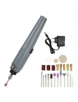 10W Wireless Rechargeable Mini Electric Drill Grinder Set 25pc Polishing Engraving Sharpening Machines Sanding Kit EU Plug