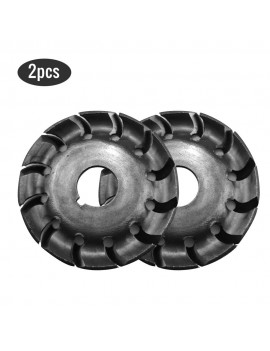 2pcs Multifunctional High Hardness Wood Carving Disc 12 Teeth 16mm Bore Hole 65mm Diameter Wood