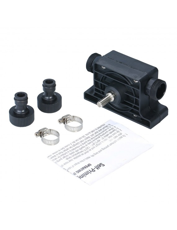 Electric Drill Pump Portable Self Priming Oil Fluid Transfer Water Pump Household Small Hand Drill Drive Pump Diesel Pump