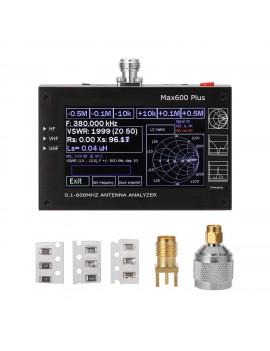 Max600 Plus HF VHF UHF Antenna Analyzer 0.1-600MHz with 4.3