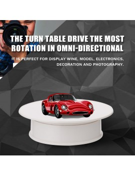 360 Degree Electric Rotating Turntable Display Stand for Photography Video Shooting Props Jewelry Display Turntable