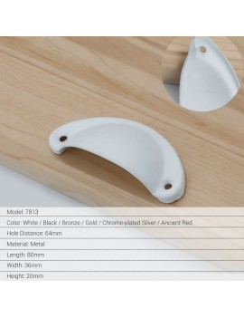 Cabinet Handle Classical Chinese Drawer Handles Semicircular Handle Modern Simple Stainless Steel Kitchen Cabinet Pulls  Chinese Classic Style
