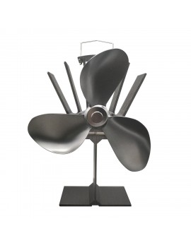3 Blades Heat Powered Stove Fan Ultra Quiet Fireplace Wood Burning Eco Fan for Efficient Heat Distribution