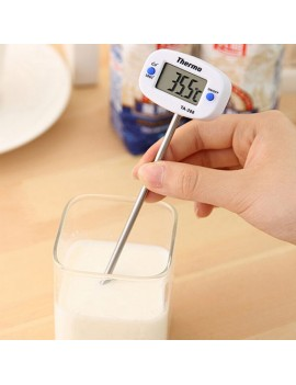 -50℃ - 300℃ LCD Digital Food Thermometer for BBQ Meat Cake Candy Jam Deep Fry Food White