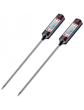 2pcs -50-300℃ Digital Food Thermometer Kitchen Cooking BBQ Food Meat Probe Pen