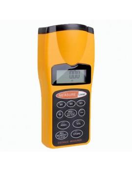 CP-3007 Digital LCD 18M Ultrasonic Laser Distance Meter - Yellow