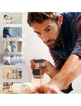 2-in-1 30M/40M USB Charging Laser Rangefinder + 5M High Precisio Tape Measure for Interior Decoration/Construction
