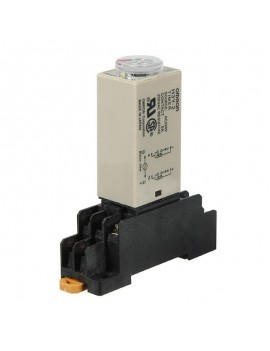 220V Power On Time Delay Relay Solid State Timer DPDT Socket - 60s Delay