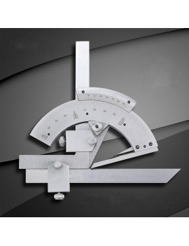 0-320 Degree Precision Angle Measuring Finder Universal Bevel Protractor Silver