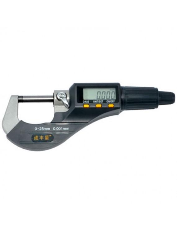 0-25mm Micron Electronic Micrometer Gauge 0.001mm Measuring Tool