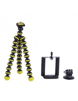 3-in-1 Mini Octopus Tripod for Digital Camera/Phone/GoPro Hero 1/2/3/3+ Black & Yellow
