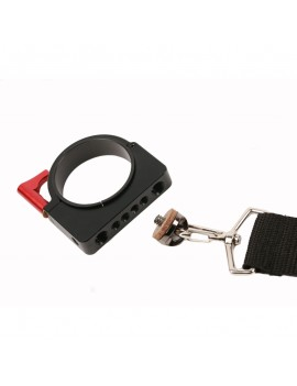 """Braided Lanyard Neck Strap Shoulder Strap Aluminum Extension Ring Clamp Mounting Adapter with 1/4"""" and 3/8"""" Screws, Compatible with DJI Ronin-S Handheld Gimbal Stabilizer"""