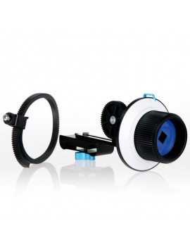 FO Quick Release Clamp DSLR Follow Focus with Adjustable Gear Ring Belt for 15mm Rod Rig Black