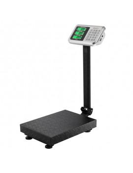 100KG/220lbs LCD Display Personal Floor Postal Platform Scale Black