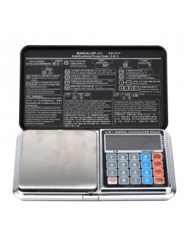 1kg/0.1g Multifunctional Mini Digital Pocket Scale Portable Calculator Weighing Tool Black