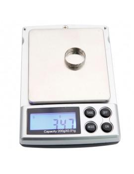200g x 0.01g 5 LCD Display Digit Scale Jewelry Mini Scale Black
