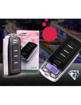 100g/0.01g Car Key Mini Digital Pocket Jewelry Scale Black & Silver