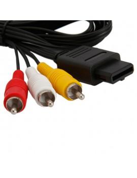 """72"""" Video Cord AV Cable for Nintendo GameCube N64 Black"""