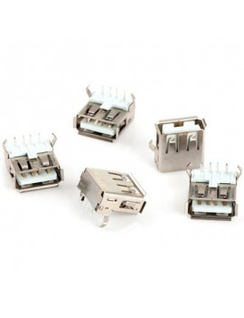 20pcs USB Type-A Female 90-Degree 4pin PCB Mount Socket Connector