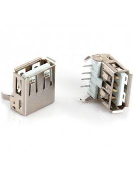 100pcs USB Type-A Female 90-Degree 4pin PCB Mount Socket Connector