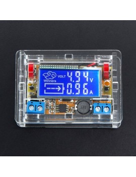 2pcs DC-DC Adjustable Step Down Power Supply Module LCD Display w/ Shell